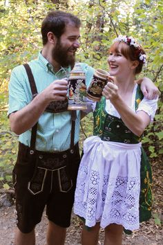 Couples Costume: Oktoberfest - Paint the Gown Red