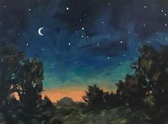 "Daily Paintworks - ""Sleepy Night"" - Original Fine Art for Sale - © Shannon Bauer"
