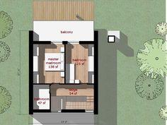 Modern Style House Plan - 2 Beds 1.00 Baths 709 Sq/Ft Plan #473-3 Floor Plan - Upper Floor Plan - Houseplans.com