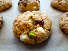 Brown Butter Oatmeal Cookies with Cranberries, Pistachios, and White Chocolate: The Briarwood Baker.
