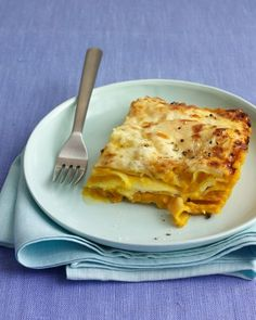 Ricotta cheese and pureed acorn squash make a creamy, lightly sweet filling for this fall lasagna. Using no-boil noodles makes the preparation quicker by a half-hour.