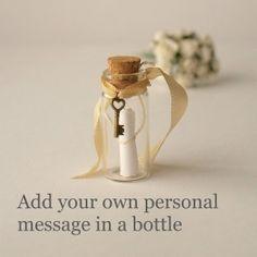 подарок к 14 февраля, на день валентина или на годовщину: послание в бутылке: послание в бутылочке с ключиком от сердца