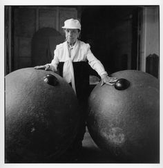 Louise Bourgeois at her Brooklyn studio, 1995