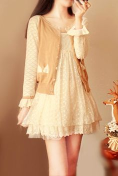 This would be so cute as a shirt with shorts or caprees! Girly Outfits, Pretty Outfits, Dress Outfits, Cute Outfits, Fashion Outfits, Japan Fashion, Kawaii Fashion, Cute Fashion, Kawaii Dress
