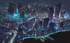 """When I first saw this my first thought was """"wow, Shanghai is looking really crazy these days,"""" thinking that it was a photo. Then I zoomed in and saw it was a painting. The author is a young French artist named Klaus Pillon—who says it is the world map for an incoming indie video game. His work is great."""