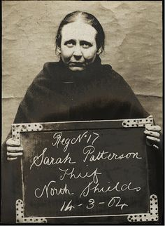 Sarah Patterson was arrested for theft at North Shields Police Station on March 14, 1904.