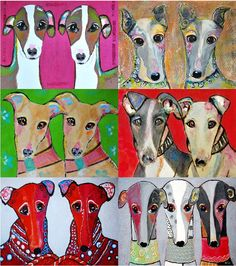 Inky van Swelm's Xmas cards for Greyhounds Rescue Holland