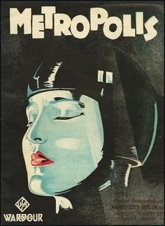 metropolis vintage silk screen poster