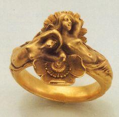 anel art nouveau, Louis Aucoc, 1900