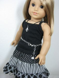 18 inch Doll Clothes American Girl  Black and by nayasdesigns, $32.50