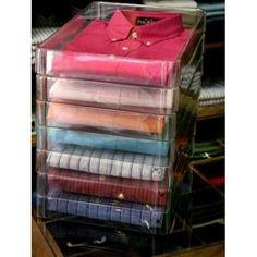 caece79922 Caixa Organizadora De Plástico Acetato Transparente Para Roupas - Inbox