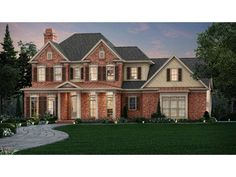 Home Plan HOMEPW76573 is a gorgeous 3454 sq ft, 2 story, 4 bedroom, 5 bathroom plan influenced by  Traditional  style architecture.