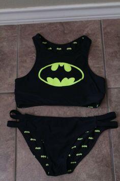 b059ab1474 Batman reversible bikini set - Hot topic- size medium worn twice good  condition. #
