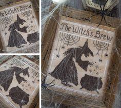 The Witch's Brew - PDF Cross Stitch Pattern by The Little Stitcher