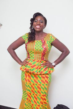 Dear Fashion Savvy Ladies, We are writing to let you know that kente has come to impress us with amazing designs. Kente is not as common as Ankara which makes it an appealing fabric. African Fashion Designers, African Fashion Ankara, Latest African Fashion Dresses, African Print Fashion, Africa Fashion, African Wedding Attire, African Attire, African Wear, African Dress