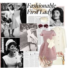 """""""Fashionable First Lady - Jackie O."""" by kukuruka ❤ liked on Polyvore"""