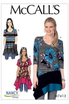 Sew Flattering Asymmetrical Hemlines using McCalls M7413 by Nancy Zieman | Nancy Zieman Blog