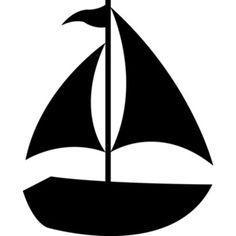 Black Sailboat Silhouette Free Clip Art