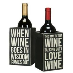 box bottle wine holder adds a hilarious touch to the kitchen decor