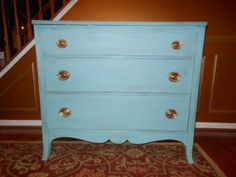 This piece is local SOMD friends!  Dresser painted with Annie Sloan Provence and dark waxed!