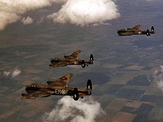 British Lancaster Bombers.  Beautiful Aircraft.