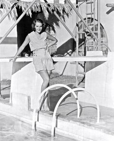 Art Deco divinity — by the pool: Ruby Keeler in Palm Springs
