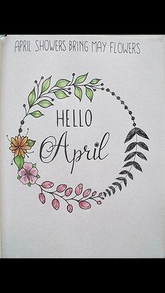 hello april april hallo april bullet journal