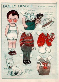 Bonecas de Papel: Dolly Dingle Paper Dolls - love the fair-isle pully!