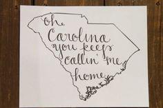 Oh Carolina you keep callin' me home!