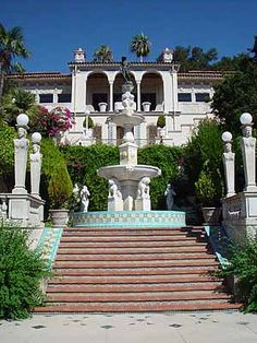 Hearst Castle in San Simeon, San Luis Obispo, California.  The extravagant castle was built by William Randolph Hearst between 1919-1947.