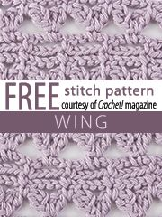 Wings Stitch Pattern.  Download here, courtesy of www.crochetmagazine.com.