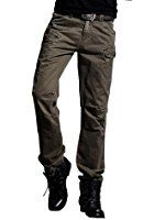 MUST WAY Men's Multi Pocket Loose Casual Outdoor Straight Cargo Pants