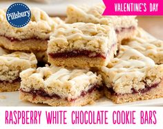 Sugar cookies, raspberry jam and white chocolate all come together to make these Raspberry White Chocolate Cookie Bars. This is the perfect dessert for bringing and sharing at your Valentines Day party.