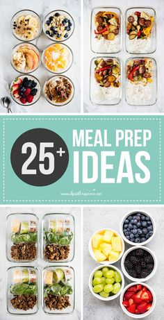 25+ Meal Prep Ideas - Easy, healthy and delicious recipes that will make your meal prep a success! Also includes FREE meal prep printables! #mealprep #mealplanning #mealplan #mealprepping… More