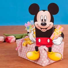 Make a special Mother's Day delivery with Mickey's help! Print and make this swell candy box and surprise Mom with some of her favorite sweet treats!