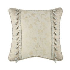 """Waterford Lysander Ivory Square Decorative Pillow, 20"""" x 20"""""""