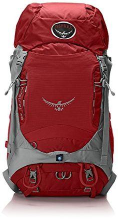 Osprey Packs Kestrel 38 Backpack 2015 Model Fire Red SmallMedium *** Click on the image for additional details.