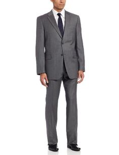 884a03c7573 Tommy Hilfiger Men s Lined Suit With Flat Front Pant