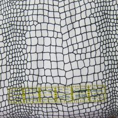 Snakeskin White Organic Cotton Rib