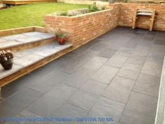Slate Paving Slabs - outside back doors