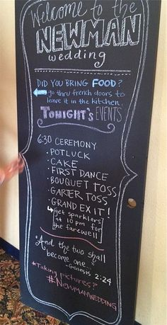 Instead of program for line of events, do one big (and reusable) chalk board.