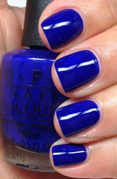 OPI - OPI...Eurso Euro....maybe this will actually look the same on me, Essie mesmerized does not come close! I LOVE THIS BLUE <3