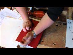 Simpelt grafisk tryk - en snor og en bog! - YouTube