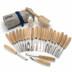 pfeil Swiss made Brienz Collection Full Size Carving Tool Set, 25 piece