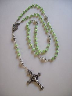 Crucifix cross Our Father center part for rosary beads junction paters jewellery
