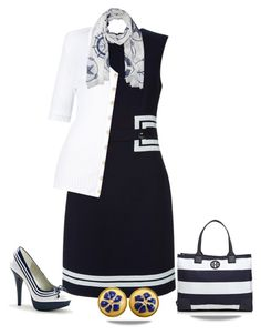"""""""For the love of Nautical ⛵"""" by kim-mcculley ❤ liked on Polyvore featuring Hobbs, Balmain, Versace, Tory Burch, Nautical, WearIt and womensFashion"""