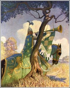 N. C. Wyeth, The Boy's King Arthur; Published by Charles Scribner's Sons ~ 1919