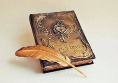 "Antique book, Magic Book, Diary, Guest book, Wedding guest book, Celebration book 21 cm x 17 cm ( 8.3"" x 6.7"")"