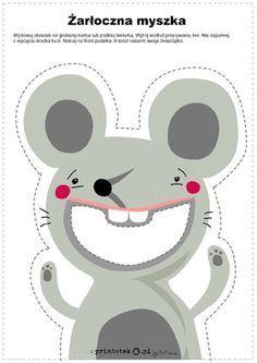 Żarłoczna myszka - Printoteka.pl Name Activities, Printable Activities For Kids, Fun Worksheets, Montessori Activities, Alphabet Activities, Hands On Activities, Kindergarten Activities, Zoo Preschool, Preschool Centers