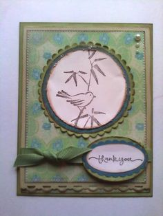 Asian Artistry Distressed Bird Thank You
